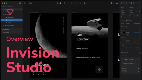 Getting started with InVision Studio